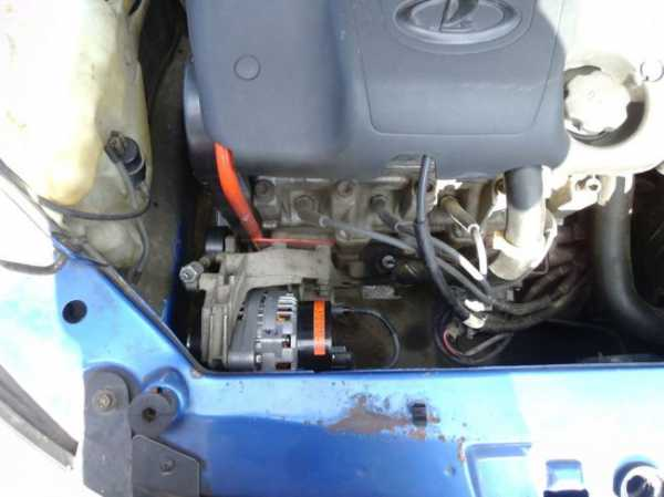 kak snyat generator na kaline 16 klapanov s kondicionerom 8 - Установка генератора лада калина